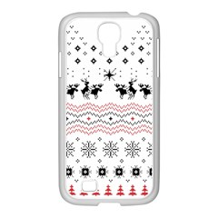 Ugly Christmas Humping Samsung Galaxy S4 I9500/ I9505 Case (white) by Onesevenart