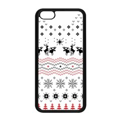 Ugly Christmas Humping Apple Iphone 5c Seamless Case (black) by Onesevenart