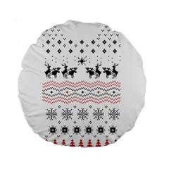 Ugly Christmas Humping Standard 15  Premium Flano Round Cushions by Onesevenart