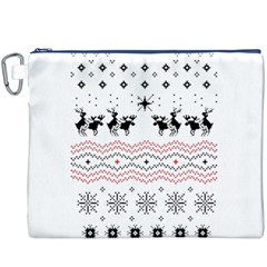 Ugly Christmas Humping Canvas Cosmetic Bag (xxxl) by Onesevenart