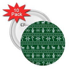 Ugly Christmas 2 25  Buttons (10 Pack)  by Onesevenart