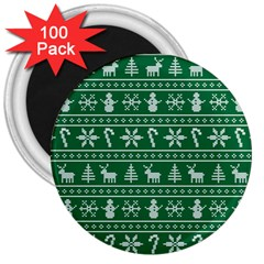 Ugly Christmas 3  Magnets (100 Pack) by Onesevenart