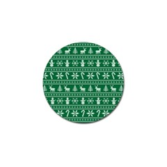 Ugly Christmas Golf Ball Marker (4 Pack) by Onesevenart