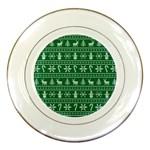 Ugly Christmas Porcelain Plates