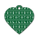 Ugly Christmas Dog Tag Heart (One Side)
