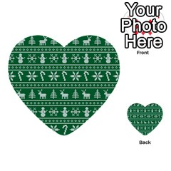 Ugly Christmas Multi Purpose Cards (heart)  by Onesevenart