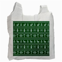 Ugly Christmas Recycle Bag (one Side) by Onesevenart