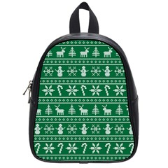 Ugly Christmas School Bags (small)  by Onesevenart