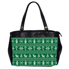 Ugly Christmas Office Handbags (2 Sides)  by Onesevenart