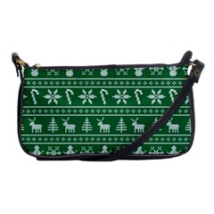 Ugly Christmas Shoulder Clutch Bags by Onesevenart
