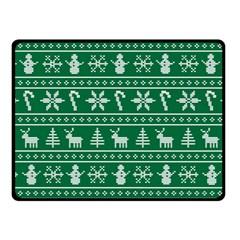 Ugly Christmas Fleece Blanket (small) by Onesevenart