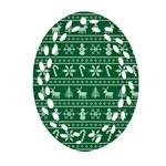 Ugly Christmas Ornament (Oval Filigree)