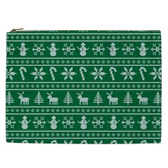 Ugly Christmas Cosmetic Bag (xxl)  by Onesevenart