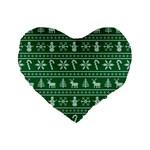 Ugly Christmas Standard 16  Premium Heart Shape Cushions