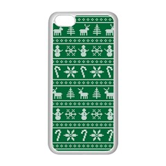 Ugly Christmas Apple Iphone 5c Seamless Case (white) by Onesevenart