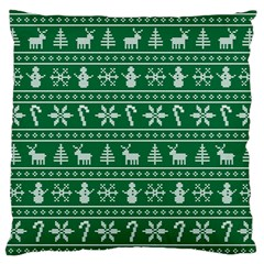 Ugly Christmas Large Flano Cushion Case (two Sides) by Onesevenart