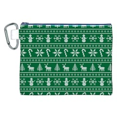 Ugly Christmas Canvas Cosmetic Bag (xxl) by Onesevenart