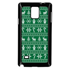 Ugly Christmas Samsung Galaxy Note 4 Case (black) by Onesevenart
