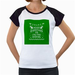 Ugly Christmas Ya Filthy Animal Women s Cap Sleeve T by Onesevenart