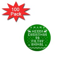 Ugly Christmas Ya Filthy Animal 1  Mini Magnets (100 Pack)  by Onesevenart