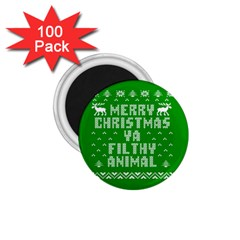 Ugly Christmas Ya Filthy Animal 1 75  Magnets (100 Pack)  by Onesevenart