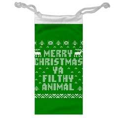 Ugly Christmas Ya Filthy Animal Jewelry Bags by Onesevenart