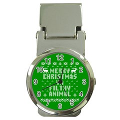 Ugly Christmas Ya Filthy Animal Money Clip Watches by Onesevenart