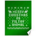 Ugly Christmas Ya Filthy Animal Canvas 36  x 48