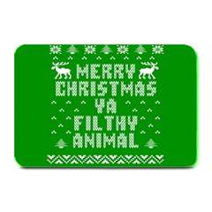 Ugly Christmas Ya Filthy Animal Plate Mats by Onesevenart