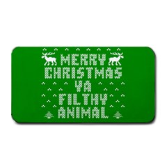 Ugly Christmas Ya Filthy Animal Medium Bar Mats by Onesevenart