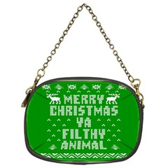 Ugly Christmas Ya Filthy Animal Chain Purses (one Side)  by Onesevenart