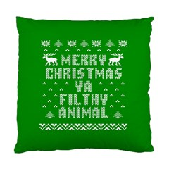 Ugly Christmas Ya Filthy Animal Standard Cushion Case (two Sides) by Onesevenart