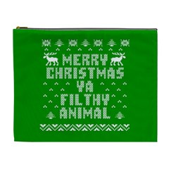 Ugly Christmas Ya Filthy Animal Cosmetic Bag (xl) by Onesevenart