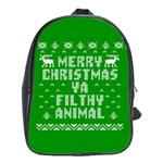 Ugly Christmas Ya Filthy Animal School Bags(Large)