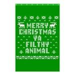 Ugly Christmas Ya Filthy Animal Shower Curtain 48  x 72  (Small)