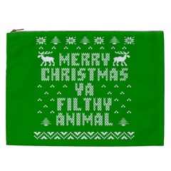 Ugly Christmas Ya Filthy Animal Cosmetic Bag (xxl)  by Onesevenart