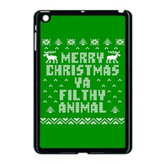 Ugly Christmas Ya Filthy Animal Apple Ipad Mini Case (black) by Onesevenart