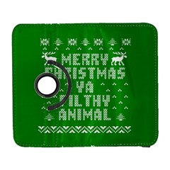Ugly Christmas Ya Filthy Animal Samsung Galaxy S  Iii Flip 360 Case by Onesevenart