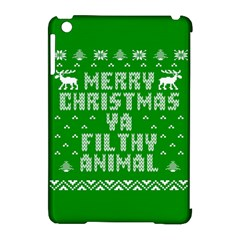 Ugly Christmas Ya Filthy Animal Apple Ipad Mini Hardshell Case (compatible With Smart Cover) by Onesevenart