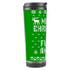 Ugly Christmas Ya Filthy Animal Travel Tumbler by Onesevenart