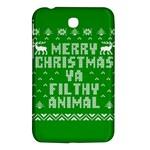 Ugly Christmas Ya Filthy Animal Samsung Galaxy Tab 3 (7 ) P3200 Hardshell Case