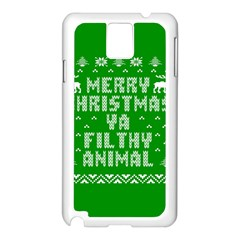 Ugly Christmas Ya Filthy Animal Samsung Galaxy Note 3 N9005 Case (white) by Onesevenart