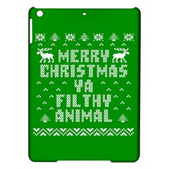 Ugly Christmas Ya Filthy Animal Ipad Air Hardshell Cases by Onesevenart