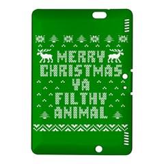 Ugly Christmas Ya Filthy Animal Kindle Fire Hdx 8 9  Hardshell Case by Onesevenart