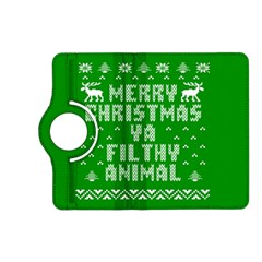 Ugly Christmas Ya Filthy Animal Kindle Fire Hd (2013) Flip 360 Case by Onesevenart