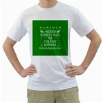 Ugly Christmas Ya Filthy Animal Men s T-Shirt (White)
