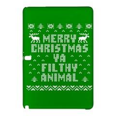 Ugly Christmas Ya Filthy Animal Samsung Galaxy Tab Pro 10 1 Hardshell Case by Onesevenart