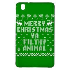 Ugly Christmas Ya Filthy Animal Samsung Galaxy Tab Pro 8 4 Hardshell Case by Onesevenart