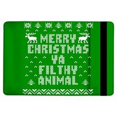 Ugly Christmas Ya Filthy Animal Ipad Air Flip by Onesevenart