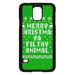 Ugly Christmas Ya Filthy Animal Samsung Galaxy S5 Case (black) by Onesevenart